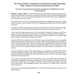News - Kit Carson Electric Cooperative
